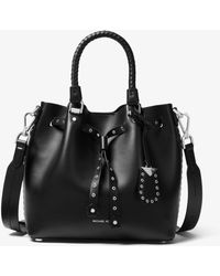 Michael Kors - Blakely Small Grommeted Leather Bucket Bag - Lyst