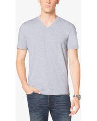 Michael Kors - V-neck Cotton T-shirt - Lyst