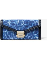 MICHAEL Michael Kors - Whitney Large Heart Tie-dye Chain Wallet - Lyst