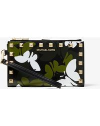 Michael Kors - Adele Butterfly Camo Leather Smartphone Wallet - Lyst