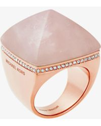 Michael Kors | Rose Gold-tone Pyramid Ring | Lyst