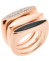 Michael Kors - Rose-gold Ring Stack - Lyst