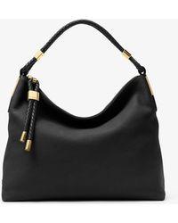 60e86914d0d1 Lyst - Michael Kors  Large Skorpios  Leather Shoulder Bag in Black