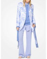 Michael Kors - Striped Silk-georgette Pajama Pants - Lyst