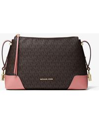 Michael Kors - Crosby Medium Logo Messenger - Lyst