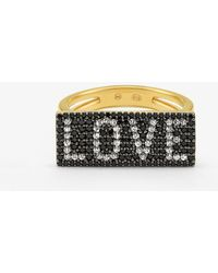 Michael Kors - Sterling Silver Love Plaque Ring - Lyst