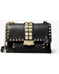 e1d5fdfffbfc Michael Kors - Michael Cece Studded Leather Chain Shoulder Bag - Lyst