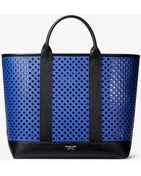 148e153fd31709 MICHAEL Michael Kors - Georgica Mini Perforated Calf Leather Tote Bag - Lyst