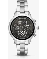 Michael Kors - Runway Heart Rate Silver-tone Smartwatch - Lyst