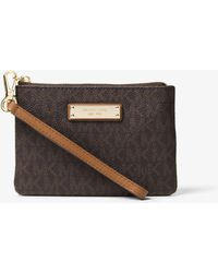 95cb0f843618 Lyst - Michael Kors Jet Set Travel Continental Wallet in Brown