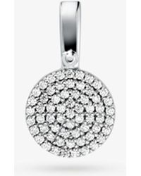 Michael Kors - Precious Metal-plated Sterling Silver Pave Disk Charm - Lyst