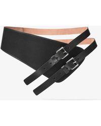Michael Kors - Double-strap Calf Leather Belt - Lyst