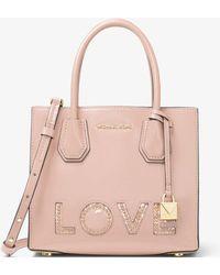 Michael Kors | Mercer Love Leather Crossbody | Lyst