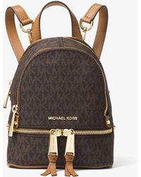Michael Kors - Rhea Mini Logo Backpack - Lyst
