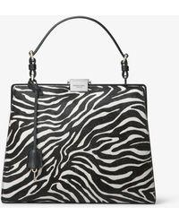 Michael Kors - Simone Zebra Calf Hair Top-handle Bag - Lyst