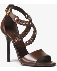 Michael Kors - Miriam Leather Sandal - Lyst