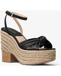 c41044deffa8 Michael Kors - Silvana Leather Platform Sandal - Lyst