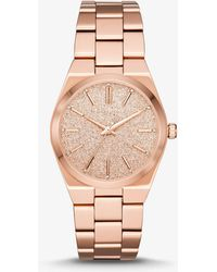 Michael Kors - Channing Rose Gold-tone Watch - Lyst