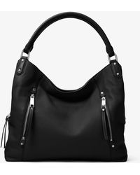 Michael Kors - Evie Large Leather Shoulder Bag - Lyst