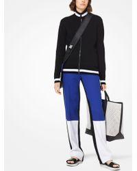 Michael Kors - Pantalón de crepé texturizado doble en bloque de color - Lyst