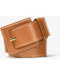 Michael Kors - Vachetta Leather Belt - Lyst