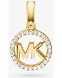 Michael Kors - Custom Kors 14k Gold-plated Sterling Silver Logo Charm - Lyst