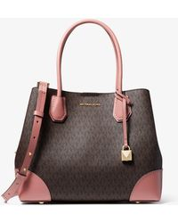 Michael Kors - Mercer Gallery Medium Logo Satchel - Lyst