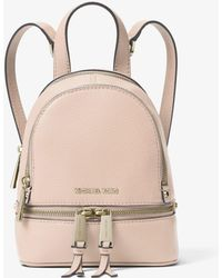 Michael Kors - Rhea Mini Leather Backpack - Lyst