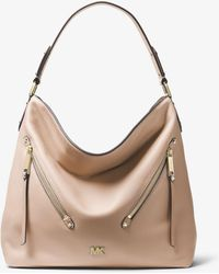 f32676362cc8 MICHAEL Michael Kors - Evie Large Pebbled Leather Shoulder Bag - Lyst