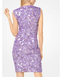 Michael Kors | Floral Sequined Stretch-tulle Dress | Lyst