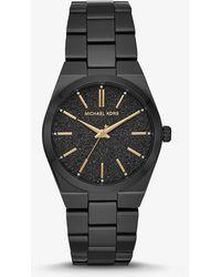 Michael Kors - Reloj Channing en tono negro - Lyst