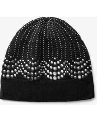 Michael Kors - Embellished Wool Beanie - Lyst