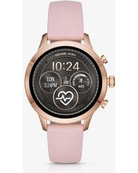 Michael Kors - Runway Rose Gold-tone And Silicone Smartwatch - Lyst