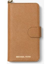 Michael Kors - Saffiano Leather Folio Phone Case For Iphone7/8 - Lyst