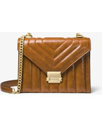 Michael Kors - Whitney Large Quilted Leather Convertible Shoulder Bag - Lyst