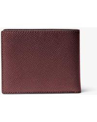 6e0dba398b02 Michael Kors Harrison Slim Leather Billfold Wallet Lyst Michael Kors Mens  ...