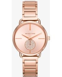Michael Kors - Portia Rose Gold-tone Watch - Lyst