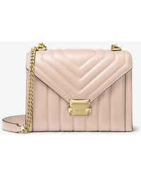 977e6fd0863c Michael Kors - Whitney Large Quilted Leather Convertible Shoulder Bag - Lyst