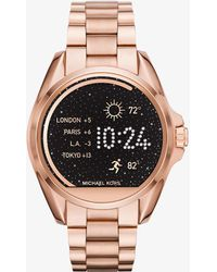 Michael Kors - Bradshaw Rose Gold-tone Smartwatch - Lyst