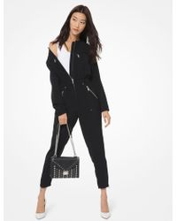 Michael Kors - Cropped Zip - Detail Utility Jumpsuit - Lyst
