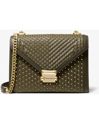 450b5dcffe6e Michael Kors - Whitney Large Studded Leather Convertible Shoulder Bag - Lyst