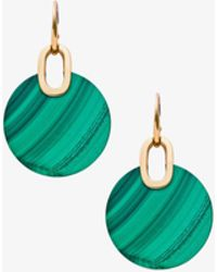 Michael Kors - Gold-tone Malachite Disc Drop Earrings - Lyst