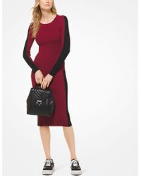 Michael Kors - Contrast Stripe Ribbed Knit Pullover - Lyst