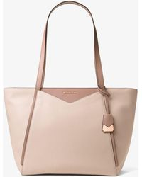 924dd64f6c29 Michael Kors - Whitney Large Leather Tote - Lyst