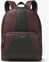 449a4846f47a Michael Kors Bryant Leather Backpack Black in Black for Men - Lyst