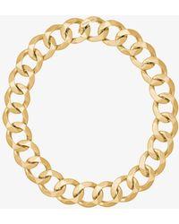 Michael Kors - 14k Gold-plated Chain-link Choker - Lyst