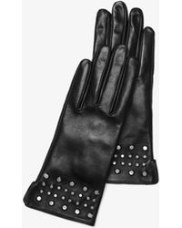 Michael Kors - Studded Leather Gloves - Lyst