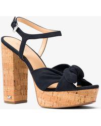 Michael Kors - Pippa Suede Platform Sandal - Lyst