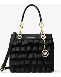 Michael Kors - Cynthia Small Ruffled Leather Satchel - Lyst