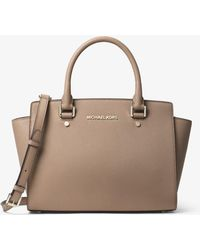 Michael Kors - Selma Medium Saffiano Leather Satchel - Lyst